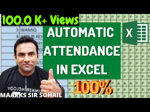 Attendance Sheet In Excel With Formula Fully Automatic