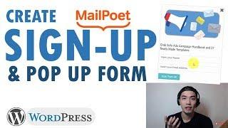 Create Sign Up & Popup Form [WordPress Plugin]