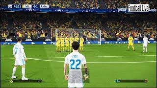 PES 2018 | Villarreal vs Real Madrid | Solo Free kick goal Ronaldo | UEFA Champions League (UCL)