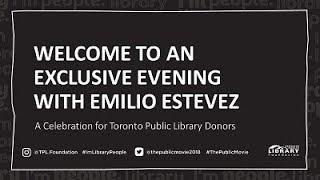 An Evening With Emilio Estevez | Toronto Public Library