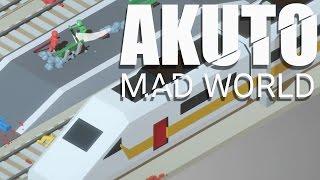 Akuto Mad World - Gang Beasts meets Bushido Blade! (4 Player Gameplay)