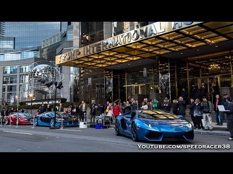 Bugattis at Trump Tower NYC