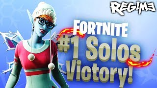 NEW SUGARPLUM SKIN! - Regime - Fortnite - Solo Win - Battle Royale