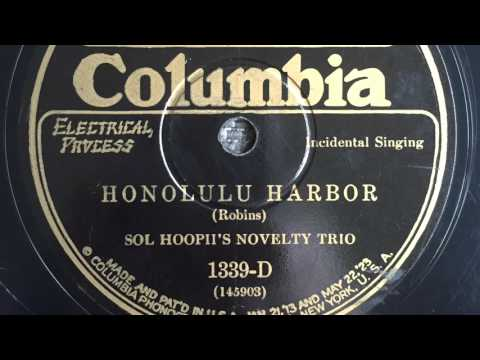 Sol Hoopii - Honolulu Harbor - Columbia 1339-D