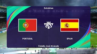 PES 2021 PORTUGAL vs SPAIN International Friendly 2020 Gameplay PC