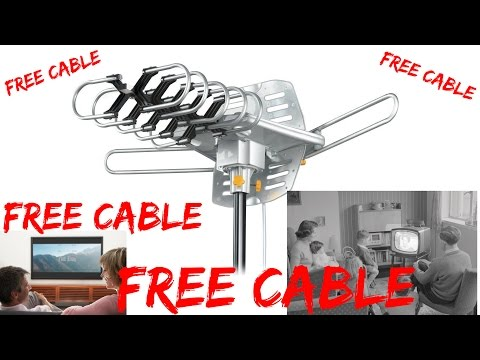 FREE CABLE!  HD Digital Outdoor HDTV Antenna REVIEW&INSTALLATION
