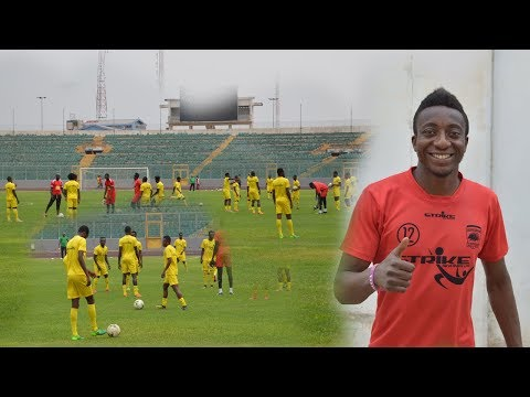 ASANTE KOTOKO FIRST FULL TRAINING SESSION AT BABA YARA STADIUM AHEAD OF NKANA FC CLASH
