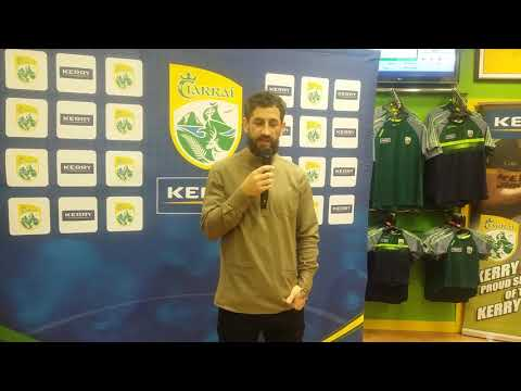 Paul Galvin & the new Kerry Jersey..'Back to Gold'..