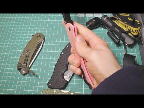 Закрытие ножей с замком Tri-Ad Lock / Back-lock против Liner Lock