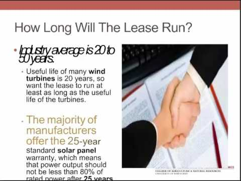 Legal Considerations with Energy Leases