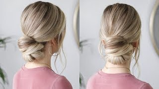 HOW TO: EASY UP-DO + HAIRCARE ROUTINE FOR DRY HAIR