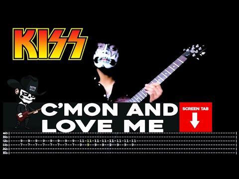 Kiss - C'Mon And Love Me (Guitar Cover by Masuka W/Tab)