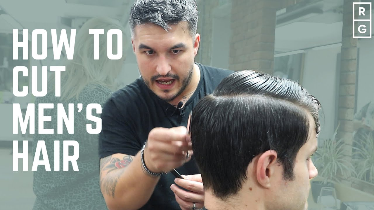 How To Cut Men S Hair Full Haircut Tutorial Classic Simple Barbering Techniques Youtube