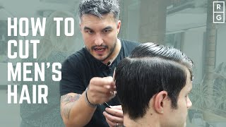 How To Cut Men's Hair | FULL HAIRCUT TUTORIAL | Classic Simple Barbering Techniques
