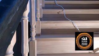 Деревянная лестница ( шлифовка под лак )(Изготовить лестницу даже из ценной породы дерева недостаточно. Конечный вид деревянной лестнице придает..., 2015-03-11T19:34:00.000Z)