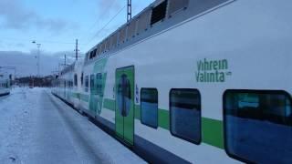 フィンランド国鉄Sm4形 ヘルシンキ中央駅到着 Helsinki Commuter Rail