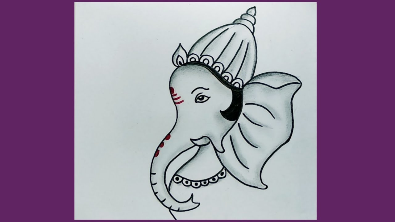 How To Draw Lord Ganesha Step By Step Easy Drawing Of Ganapati Bappa Youtube
