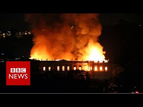 National Museum of Brazil consumed by fire - BBC News