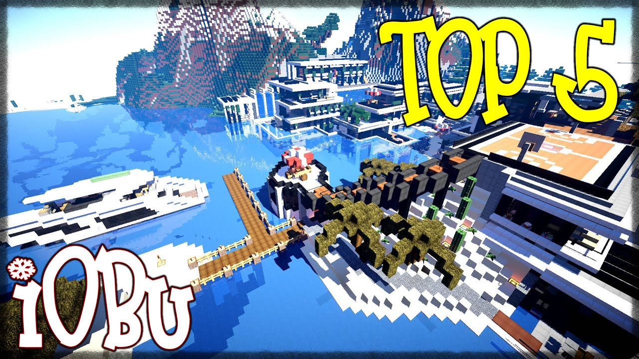 TOP 5 MODERN HOUSES Modern House Mondays 3 Minecraft Timelapse