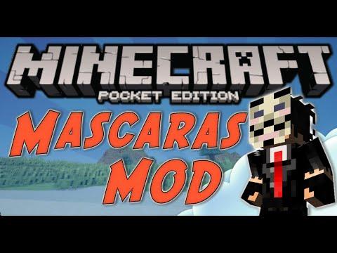 [ 0.11.1 ] MINECRAFT PE - MASCARAS COM PODERES MOD // MASK MOD !! ( Pocket Edition )