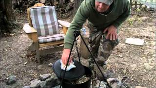 Outdoor Campfire Cooking Squirrel by Bulldog Bill & Bill Goudy