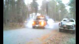 dump truck burnout
