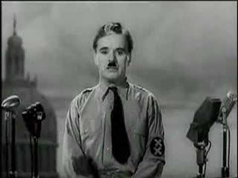 Charlie Chaplin, Il grande dittatore - Discorso allumanità