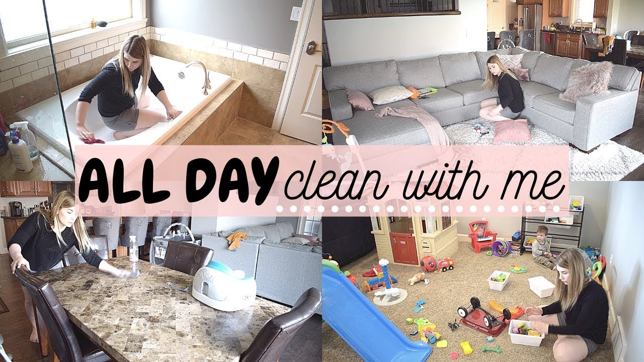 All Day Clean With Me 2019 Extreme Cleaning Motivation Speed Clean Sahm