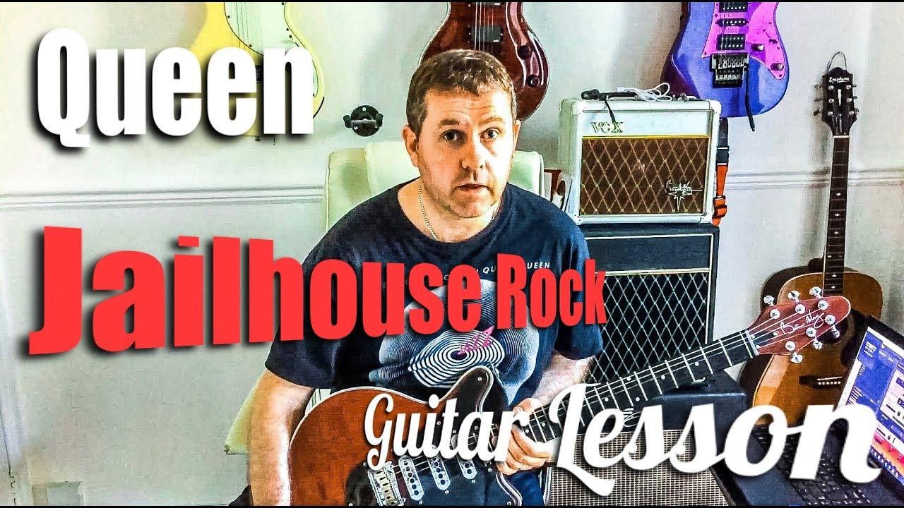 Queen - Jailhouse Rock - Guitar Lesson (Guitar Tab) - YouTube