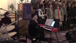 Gunars Kalnins playing with Berlin Soul Choir HE WON`T GO [dress rehearsal]