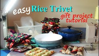 Let's Sew A Rice Trivet Gift | Easy Gift Project | Zazu's Stitch Art