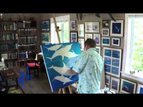 Guy Harvey Time-lapse Dolphin Painting