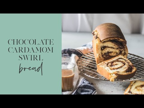 Chocolate Cardamom Swirl Bread - The Cupcake Confession