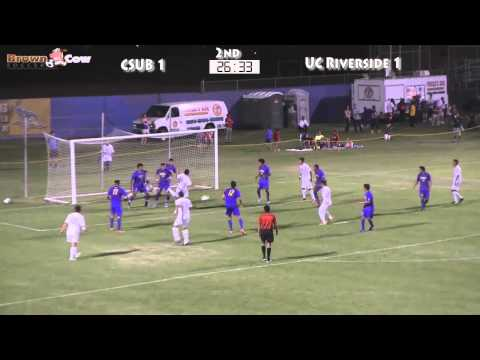 20130919 NCAA Mens Soccer - UC Riverside V CSU Bakersfield Highlights