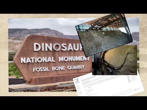 кости ужас в камне.  следы великой катастрофы .монумент динозавров сша
