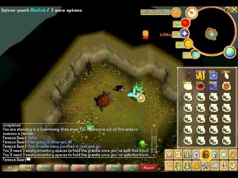 Runescape Summoning Guide 400 Pouches In One Run Youtube