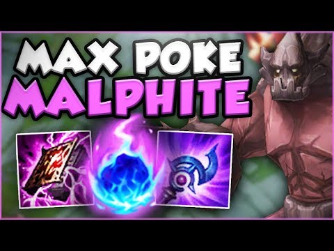 WTF?? 1 MALPHITE Q DOES 50% OF ENEMY'S HP?? NEW MALPHITE TOP SEASON 8 GAMEPLAY! - League of Legends