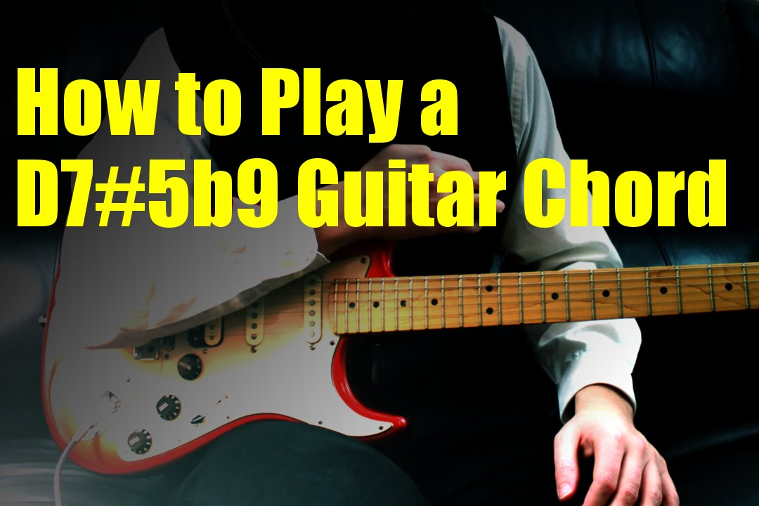 How To Play A D75b9 Guitar Chord Youtube