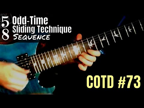 ShredMentor Challenge of the Day #73: 5/8 Odd-Time Sliding Technique Sequence