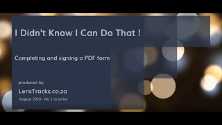 Adobe Acrobat Reader Fill and Sign - how to complete and sign a pdf form