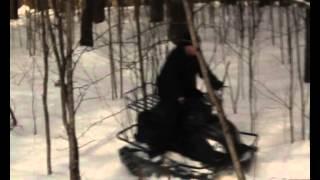 Мини-вездеход Маламут по глубокому снегу