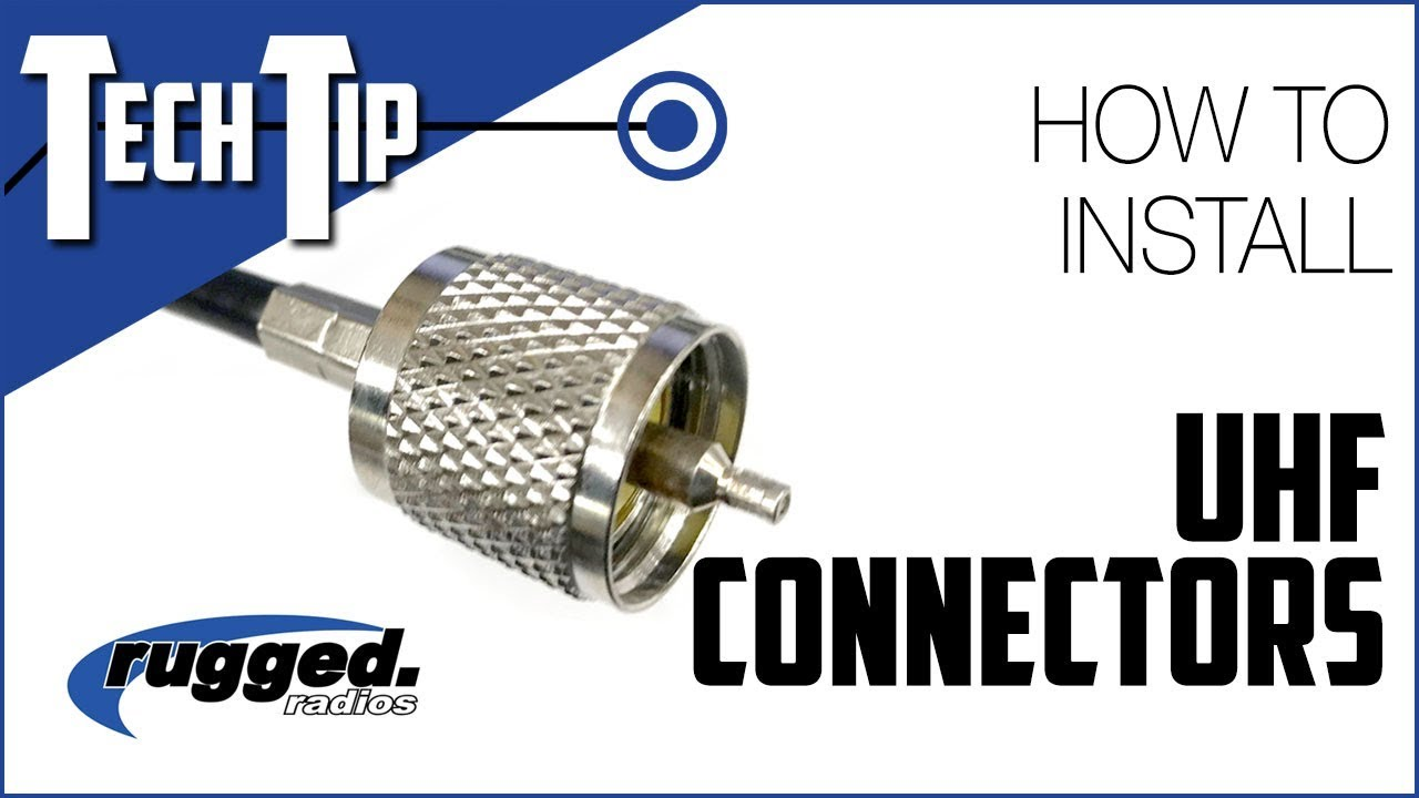 hight resolution of rugged radios how to install a uhf connector