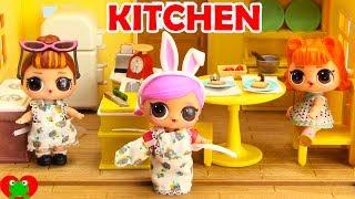 LOL Surprise Doll Kitchen Makeover