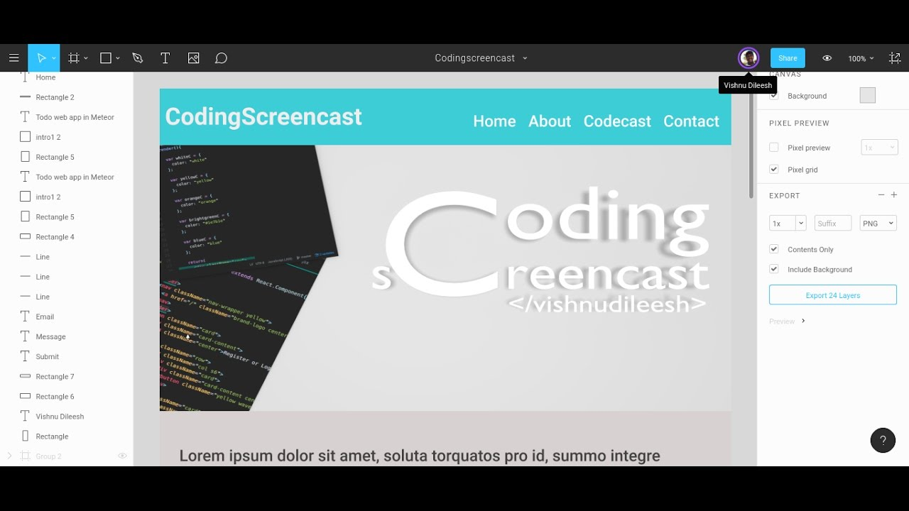 Quick web design in Figma : collaborative interface design tool ...