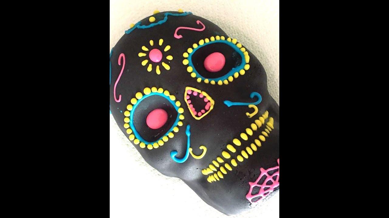 Day Of The Dead Cake Dia De Los Muertos Youtube