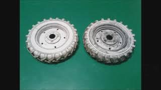 собираем колёса из бумаги , для тракторов МТЗ масштаб 1:25