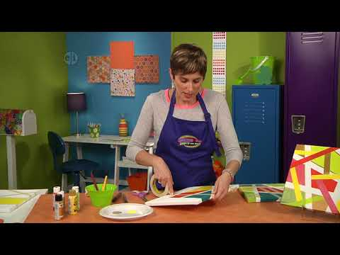 Create a modern art canvas on Hands On Crafts for kids with Candie Cooper (1602-1)