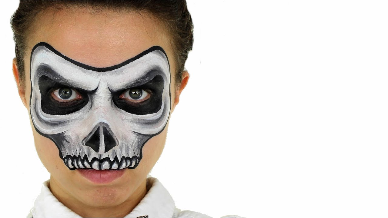 sc 1 st  YouTube & Skull Face Painting | Ashlea Henson - YouTube