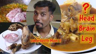 Queens Head Curry Goat ? - Amazing Paya - Goat Leg Soup | Bheja Fry -Brain Fry | Jabardasth Mani 3