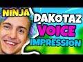 NINJA DOES DAKOTAZ VOICE IMPRESSION | Fortnite Daily Funny Moments Ep.42